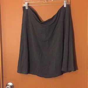 Loft pull on dark gray skirt